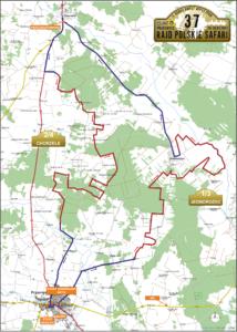 Mapa rajdu